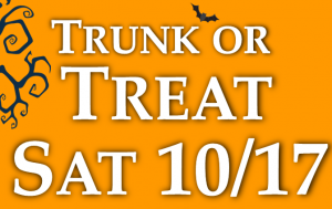 The second annual Trunk or Treat will be a day of family fun and treats on October 17