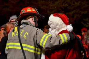 Fire Fighter With Santa